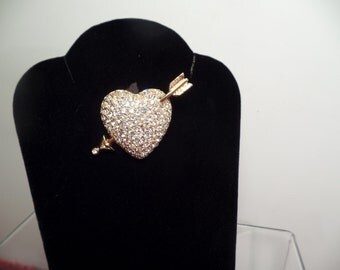 Heart and Arrow Brooch-Swarovski