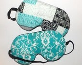 Set of 2 - Bright Blues - Colorful Sleep masks - Comes As Shown - Fits kids to adults