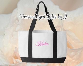 7 Personalized Bridesmaid Totes, Monogrammed Bag, Bridesmaids Gifts, 2- Color, Tote Bags, Monogrammed Tote, Personalized Bag, Wedding Bag
