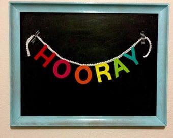 Hooray Felt Banner | Craft Room | Kids Room | Party Decor | Gallery Wall | Rainbow
