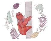 Sloth Grove print