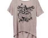 Alice Wonderland Flamingo Alternative pony open back t-shirt