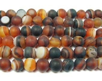 Dream Agate Matte Round Gemstone Beads
