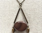 Mauve Imperial Jasper necklace