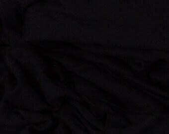 "Black Soft Jersey Fabric - 54"" Wide - 5 1/4 Yard (PV-972)"