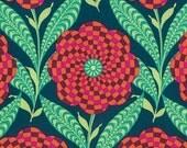 Amy Butler Eternal Sunshine Zebra Bloom in Ink cotton quilt fabric - half yard, Amy Butler fabric
