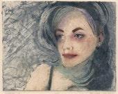 Original Collagraph Portr...