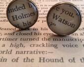Sherlock Holmes Literary Cufflinks - Holmes and Watson, cuff links