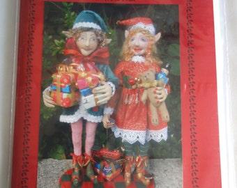 PATTERN, paper version, PIPPA & OLIVER, Christmas Elves, Cloth Dolls, Christmas, Tutorial, Diy, bambole, Michelle Munzone, Home Decor, gift
