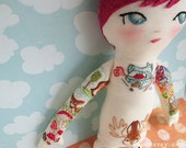 Custom Tattooed Embroidered doll of YOU