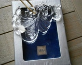 Mikasa Glass Ornament Cherub Harp, MIB, Joyous Collection Mint in Box Rare