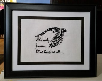 Labyrinth Bowie Movie Inspired Jareth Framed Embroidery Art Print