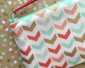 Arrows Print change purse, coin purse, small zipper pouch, organizer bag