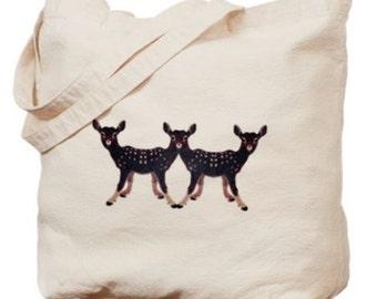 Deer Canvas Market Tote Bag
