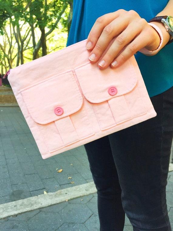 Fabric Wristlet, Wallet Wristlet, Phone Wristlet, Pink Womens Wallet, Wristlet Clutch, Wristlet Gift, Corduroy