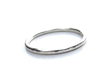 Single Sterling Silver Stacking Ring