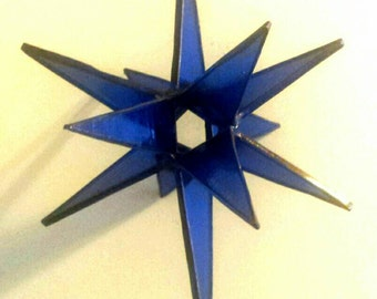 Stained Glass Moravian Star - 3D Hanging Stained Glass Spinning Star - Sarah Segovia - Fragile Beauty
