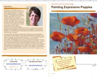 Pastel Painting Lesson Demo PDF Expressive POPPIES Art Tutorial  booklet landscape,flowers,painting sunlight