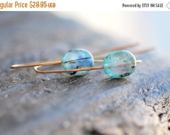 ON SALE Kyanite Earrings Gold Kyanite Jewelry Summer Jewelry Blue Kyanite Gemstone Jewelry Beach Jewelry Gift for Her Gift for Mom