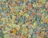 Destash Glass Frit Blend Sea Green Peach Yellow COE 96 0.3 oz Bag
