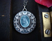 ice flower … aquamarine pendant