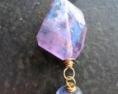 Mystic Pink Amethyst and Iolite Pendant no.1