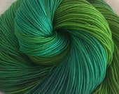 Aquamarine-superwash sock yarn