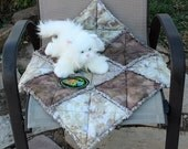 Tan Pet Blanket, Furniture Cover, Couch Cover Indoor Pet Bed, Fabric Pet Bed, Cat Quilt, Colorado Catnip Bed, Crate Mat, Travel Pet Blanket