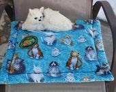 Cat Bed. Cat Mat, Cat Accessories, Cat Mat With Toy, Cat Bed, Colorado Catnip Mat, Pet Mat. Travel Pet Bed, Crate Mat, Blue Cat Bed, Catnip