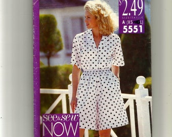 Butterick Misses'/Miss Petite Shirt and Shorts Pattern 5551