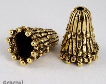 17mm Antique Gold Fringe Cone  #COA028