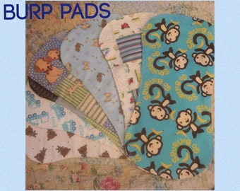 Flannel Baby Boy Burp Pads - 6 Patterns To Pick From