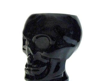 Ceramic Skull Cup for Hot or Cold Beverages Drink Ware Dining Setting Holder for Toothbrushes, Plants or Pencils Choice of Color