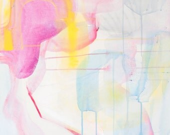 original abstract painting by Brenna Giessen || Titled: Rays
