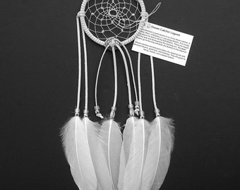 White Dream Catcher, Goose Shoulder Feathers