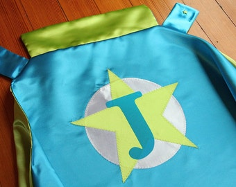 Custom Superhero Cape Personalized Child Cape by Little Hero Cape - Star with Initial