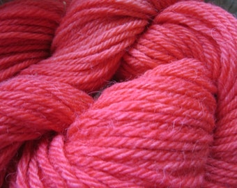 Handpainted Baby Alpaca Yarn (Watermellon Martini) 100 yds 91.4 grams