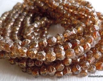 3mm English Cut Beads - c - Czech Glass Beads - 50 pcs (SP - 5)