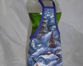 Winter Decor Dish Soap Apron Bottle Cover Wrap Staffer Party Favor Lg