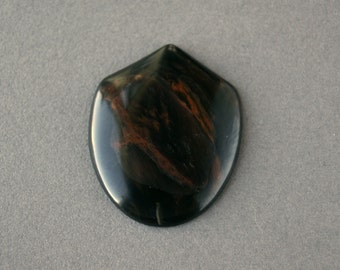 Gold Obsidian Shield Cabochon (3956)