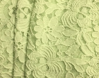 Stretch  Lace Fabric  1-1/2 Yards Floral Pattern
