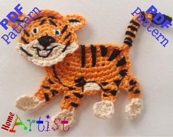 Tiger Crochet Applique Pattern