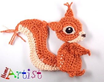Crochet Applique Squirrel
