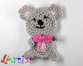 Crochet Applique Koala