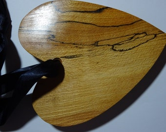 Chunky spalted beech hanging heart