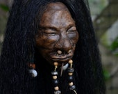 Shrunken Head, Hand Sculpted, Mere Immortal, One of a Kind