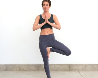Organic Hi Waisted Yoga Leggings