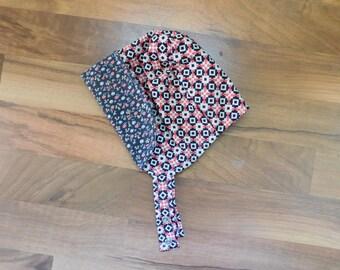 Reversible Toddler Bonnet : Floral Tribal