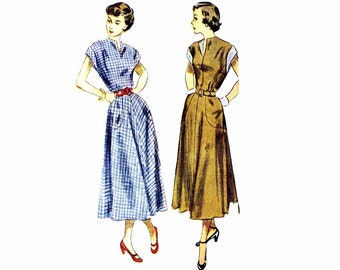 1940s Misses Dress Simplicity 2792 Vintage Sewing Pattern Size 14 Bust 32