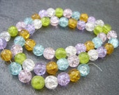 Cracked Glass Beads - 8MM - One Strand